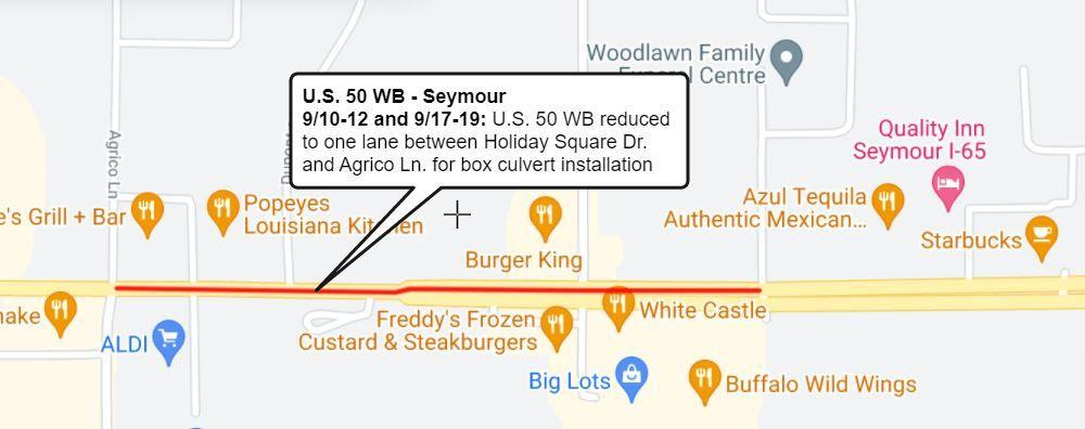 US 50 WB - Seymour