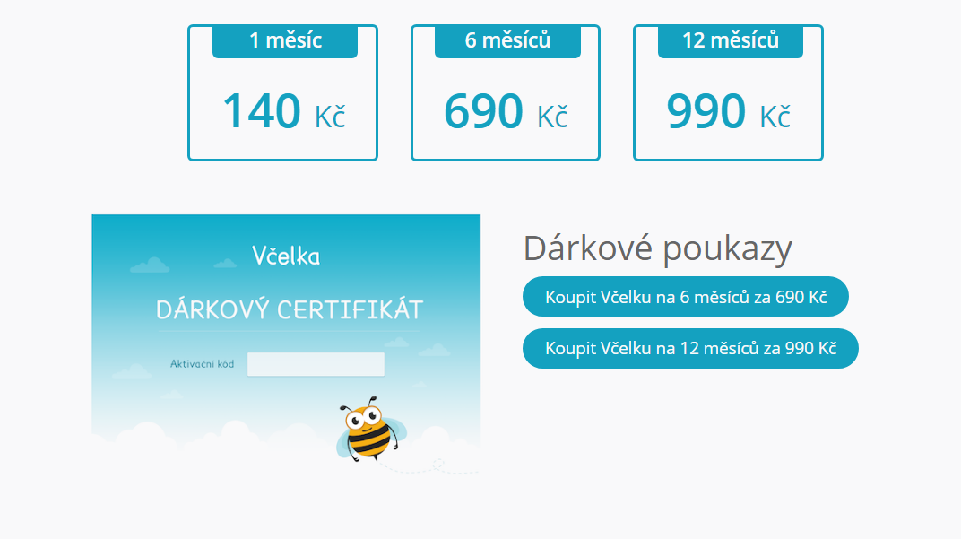 https://www.vcelka.cz/cenik