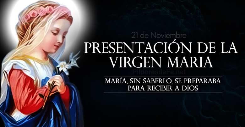 presentacion de la bienaventurada virgen maria al templo