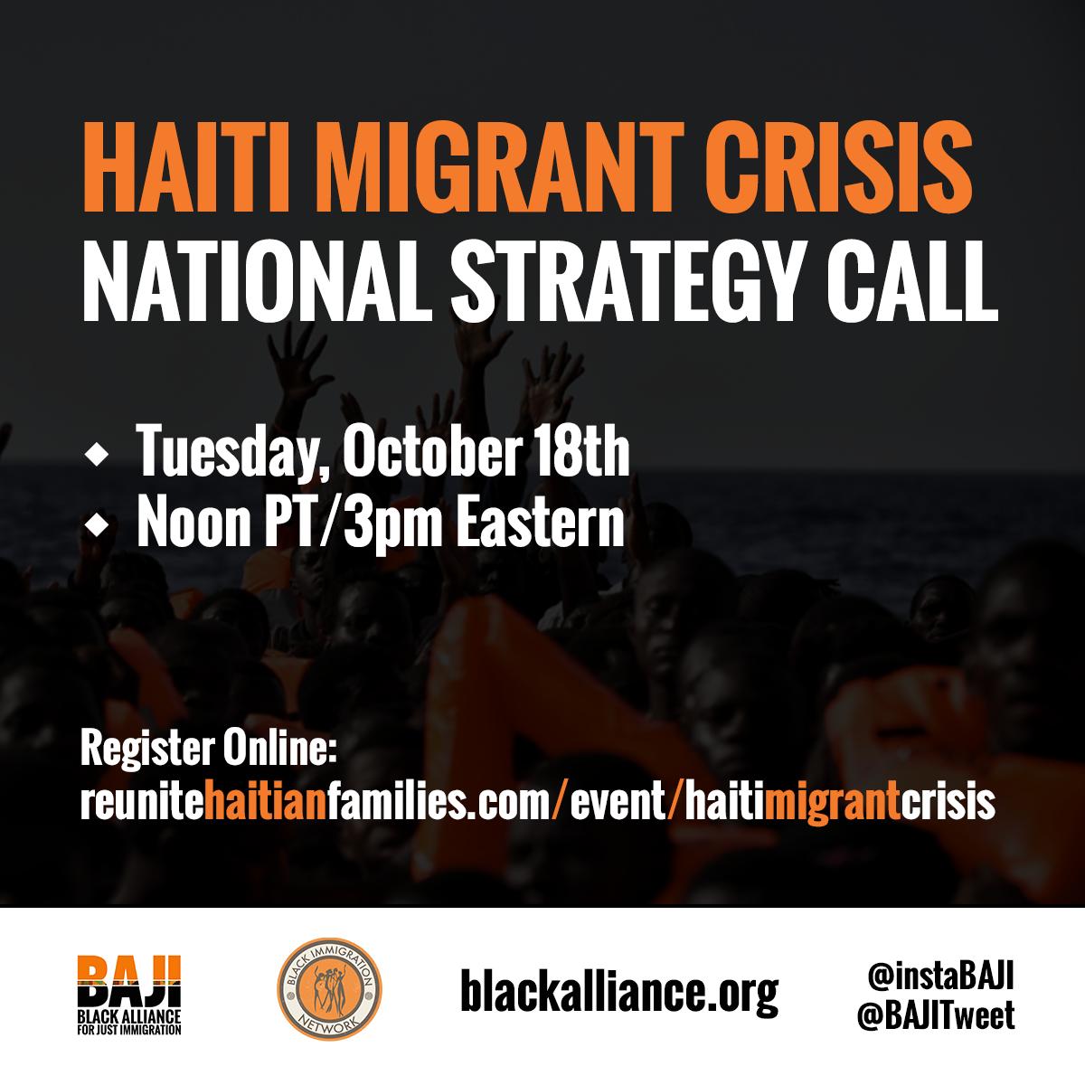 Haiti Migrant Crisis Call - 10/18
