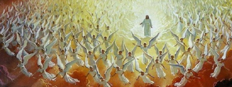 Znalezione obrazy dla zapytania pan jezus wśród aniółów