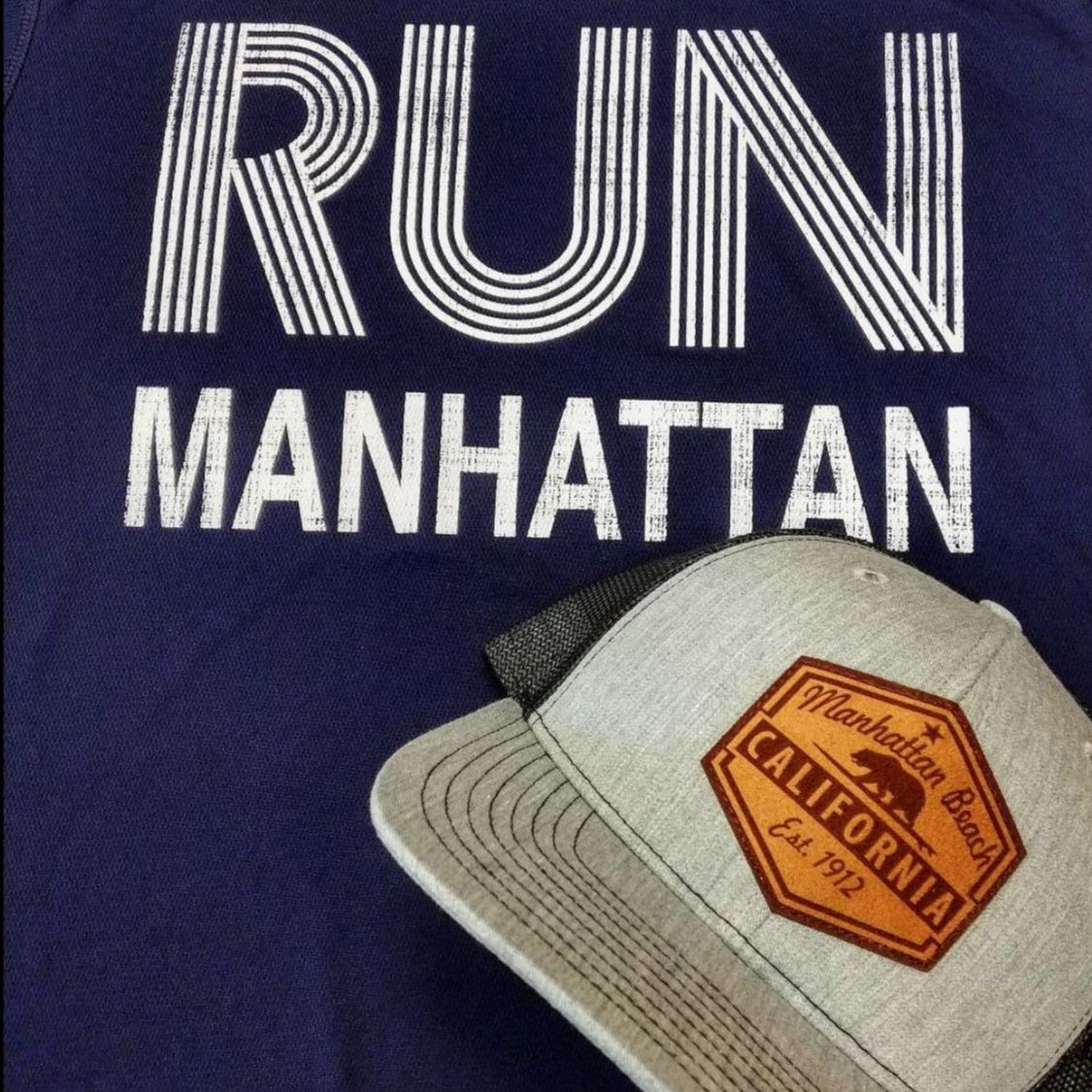 Run Manhattan Tees and hat.