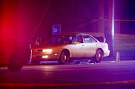 A car at the scene of a shooting of a black man by a police officer in Falcon Heights, Minn., on Wednesday.