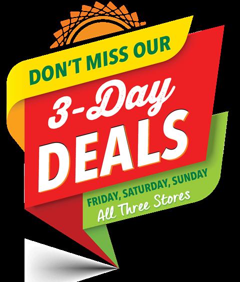 This weekend's sales