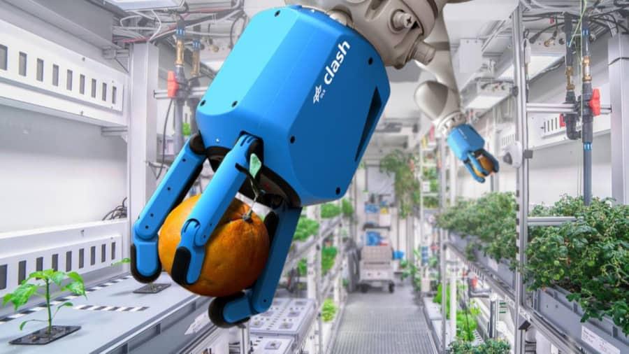O Centro Aeroespacial Alemão (DLR) está entre as agências espaciais que trabalham com técnicas de agricultura automatizadas e de IA para a era vindoura de colônias humanas interplanetárias.