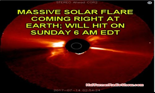 Warning: Sun Spot Detonation! Gigantic Flare Heading for Earth; Arrival 6 AM Eastern Time Sunday – Expect Earthquakes, Volcanic Eruptions and Electrical Grid Troubles - Video