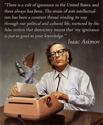 Image result for asimov cult of ignorance