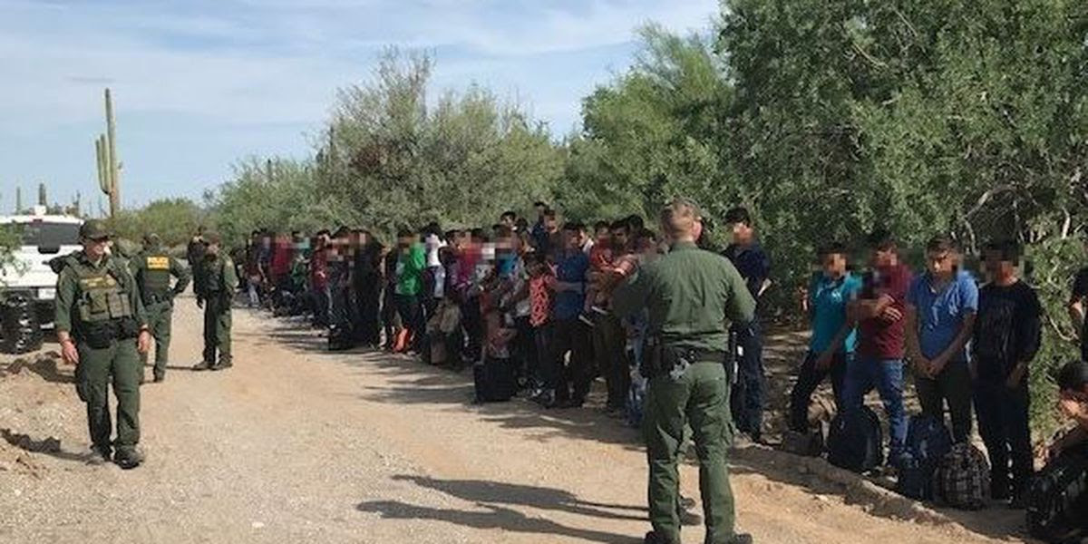 Bp Agents Encounter 128 Illegal Immigrants Border Abandoned By Smugglers