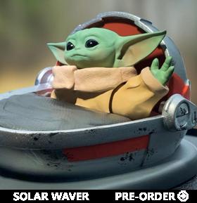 The Mandalorian The Child (Grogu) Solar Powered Dashboard Waver