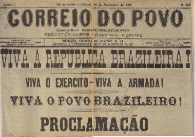 """Résultat de recherche d'images pour """"capas jornais 16 de novembro 1889"""""""""""