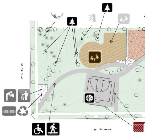 Marcy Park concept plan - detail