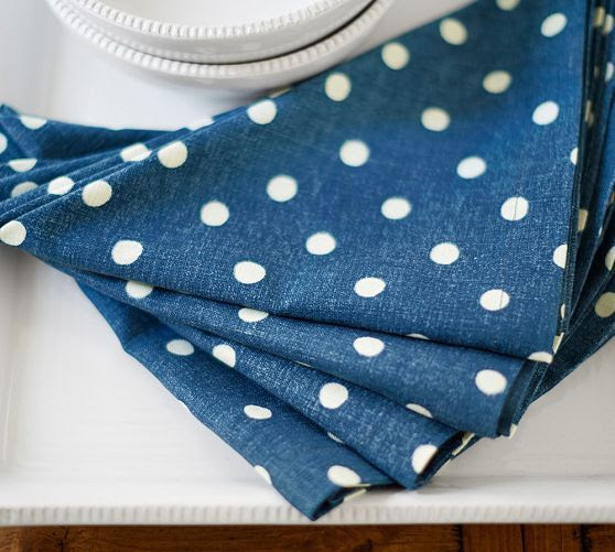 Polka Dot Napkins, Set of 4 | Pottery Barn