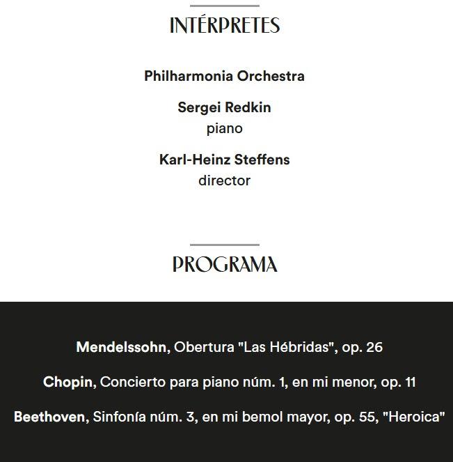 la filarmonica  Karl Heinz Steffens con The Philharmonia Orchestra