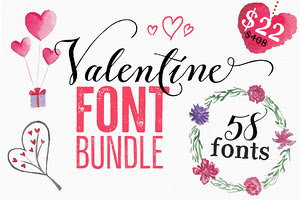Valentine Fonts Bundle