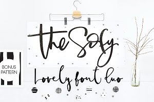 The Sofy Font Duo +Pattern+Freebie