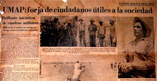 Unidades Militares de Ayuda a la Producción, Cuba