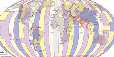 Mapa amb els diversos fusos horaris del món (Foto: Arxiu)