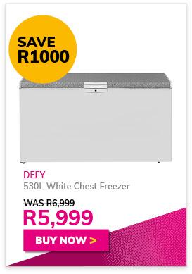 DEFY 530L White Chest Freezer