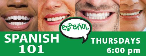 Spanish 101 - Thursdays at 6 pm, starting Jan 12