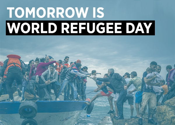 Tomorrow is world refugee day