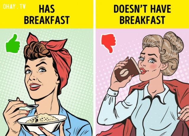 Thường xuyên bỏ bữa sáng,giấc ngủ,cải thiện giấc ngủ,mất ngủ