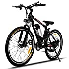 ANCHEER Power Plus Electric Mountain Bike with Removable Lithium-Ion Battery, Shimano 21 Speed Shifter