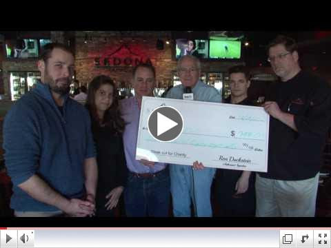 LMCTV presented with check from Sedona Taphouse on 2/10/17