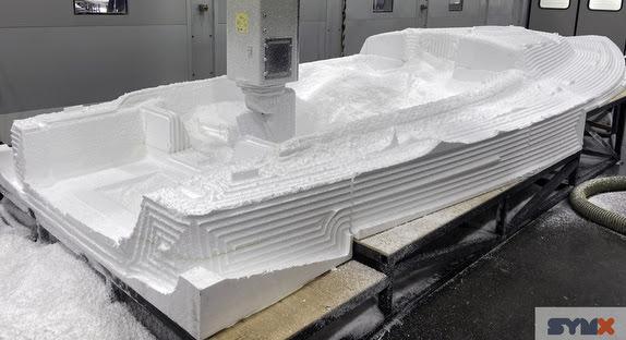 J/9 deck mold rough cut