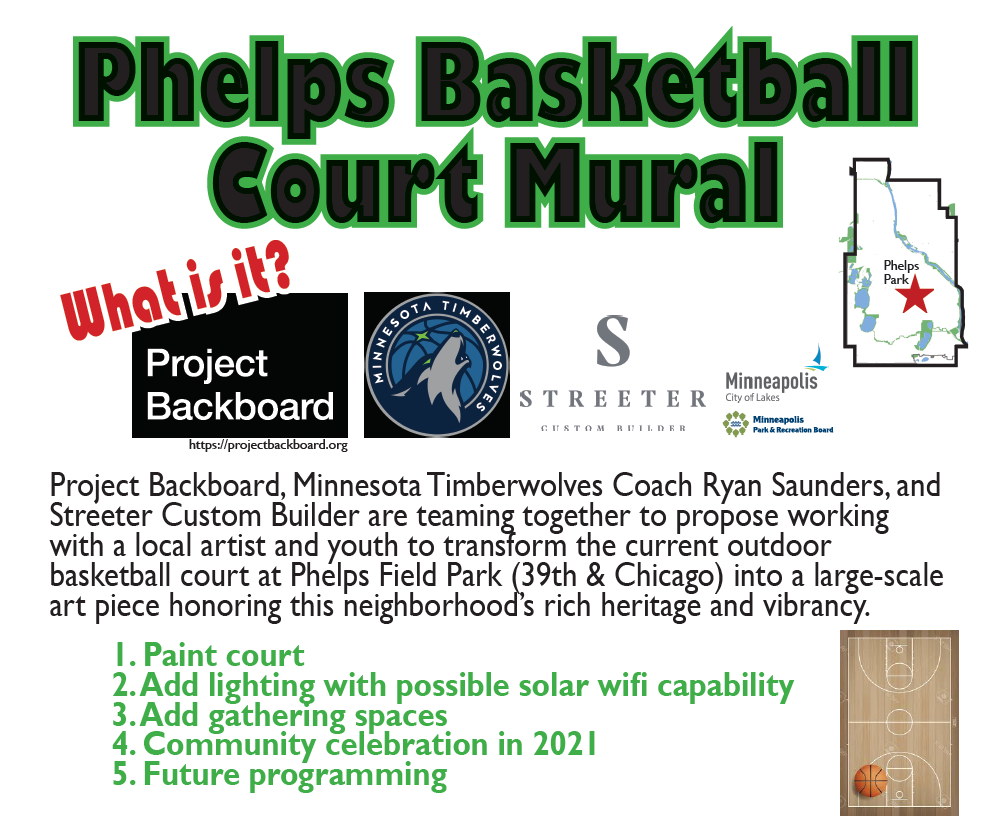 image of the Phelps Park Mural Flyer