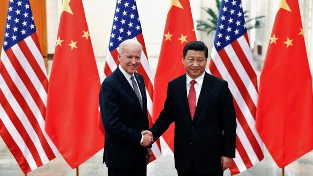 Joe Biden e Xi Jinping (Foto de arquivo)