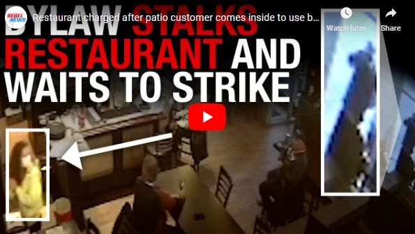 Restaurant charged after patio customer comes inside to use  bathroom