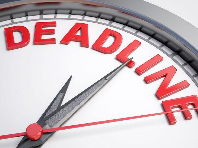 Deadline graphic image