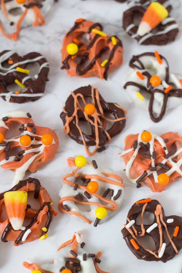 Chocolate Covered Pretzels For Halloween   The Greek Glutton