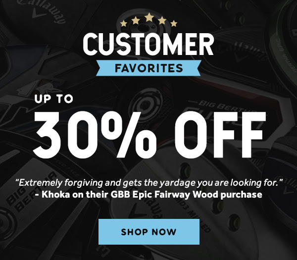 Up To 40% Off Fairway Woods and Hybrids