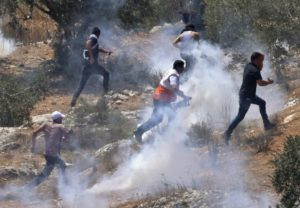 Palestiniens manifestation Israel occupation 1