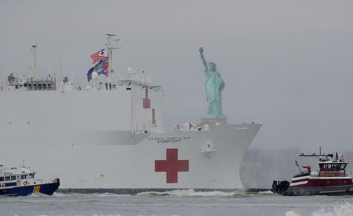 USNS Comfort in New York.  5.JPG