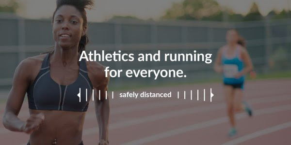 SAfely distanced running image