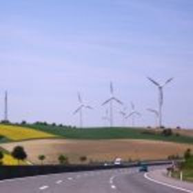windmills seen from the German highway