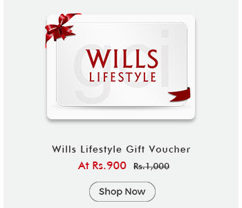 Wills Lifestyle Gift Voucher By ShopClues @ Rs.900