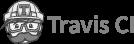 black and white travis ci logo