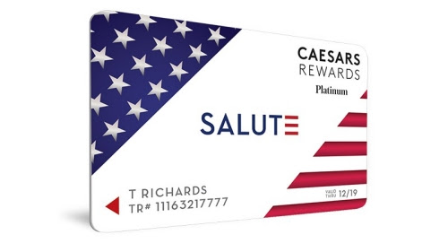 Caesars Rewards Salute card