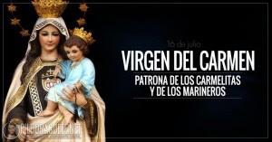 virgen del carmen patrona de los carmelitas y de los marineros