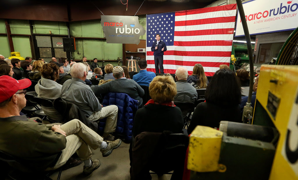 Senator Marco Rubio of Florida in Dubuque, Iowa, last week.