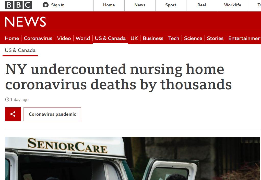 screenshot of BBC story