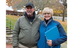 Nancy and Tim Hamlin with Wynnstay Sales consignment at the Keeneland November Sale