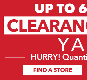 Yarn Clearance. Up to 60% off. FIND A STORE.