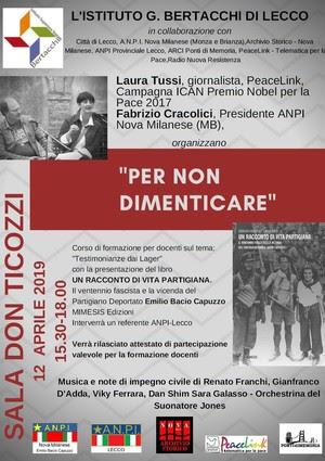 Per non dimenticare il Partigiano Deportato Emilio Bacio Capuzzo