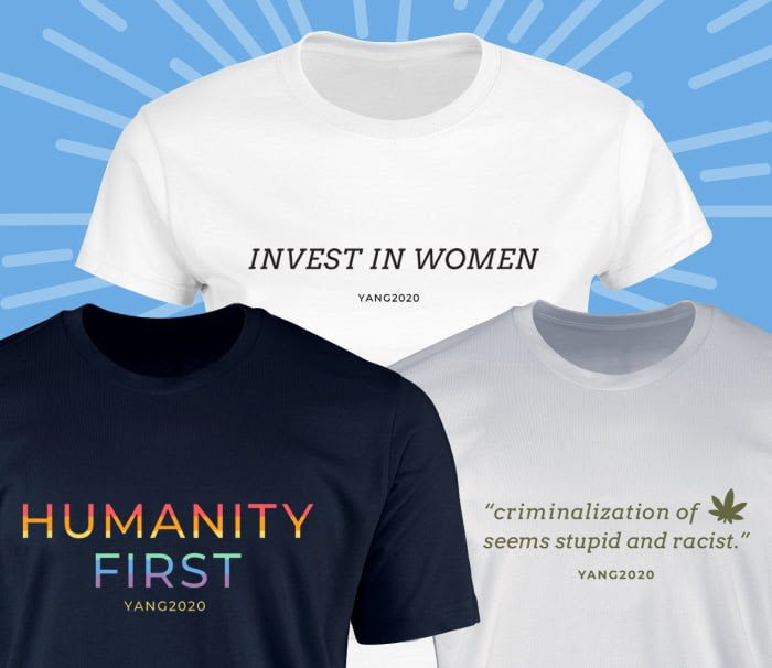"""Invest in Women t-shirt, Humanity First t-shirt, """"criminalization of -image of cannabis leaf - seems stupid and racist"""" t-shirt"""