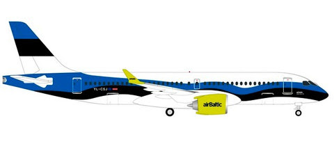 Airbus A220-300 Air Baltic YL-CSJ,'Estonia Livery' | is due: January / February 2020