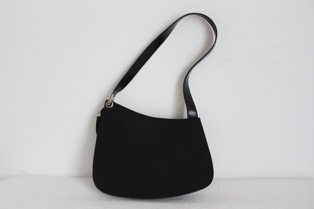 BALLY DESIGNER BLACK NYLON MINI HANDBAG